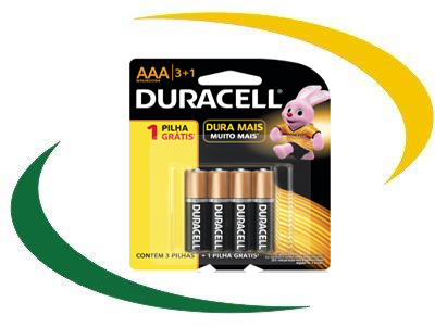 Pilha Duracell AAA Palito Pack L4P3