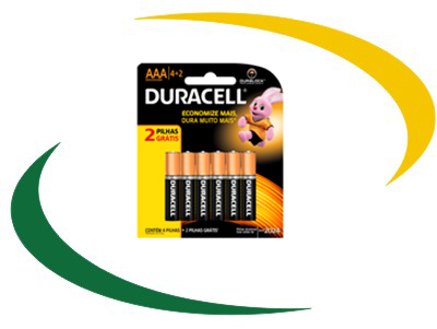 Pilha Duracell AAA Pack L6P4