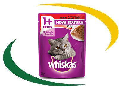 WHISKAS® Sachê Jelly Adulto Sabor Carne 85G